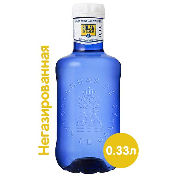 Вода Solan de Cabras 0,33 литра, без газа, пэт, 36 шт. в уп. фото