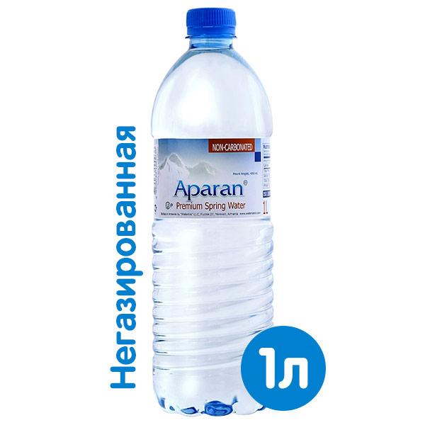 Вода Апаран 1 литр, без газа, пэт, 6 шт. в уп.