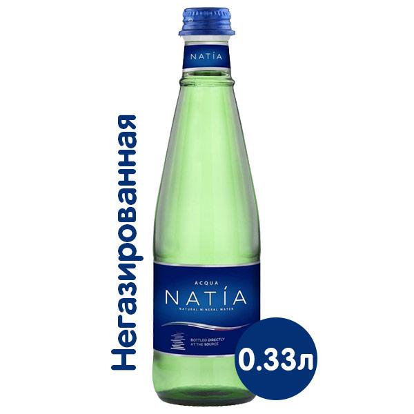Вода Acqua Natia 0.33 литра, без газа, стекло, 24 шт. в уп. фото