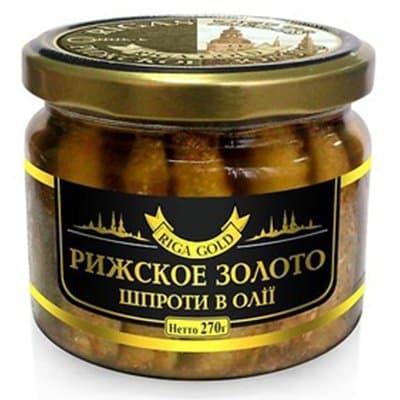 Шпроты Riga gold ст. 270 гр. (1шт.)