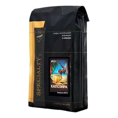 Кофе Blues Эспрессо №15 Капоэйра зерно для кофемашин в/у 1 кг