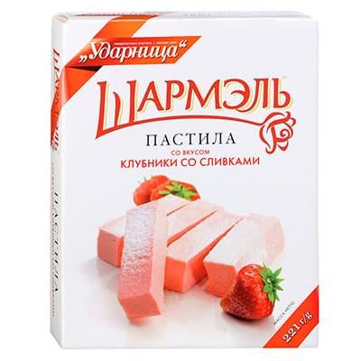 Пастила Шармэль со вкусом клубники со сливками 221 гр