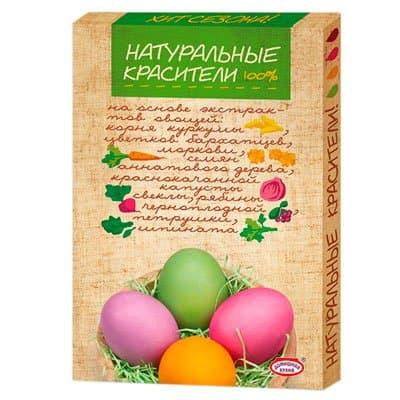 Набор пасхальный Натуральные красители 4 цвета