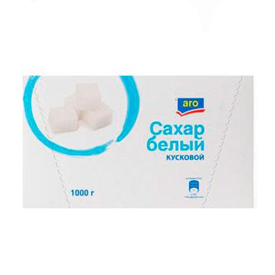 Сахар рафинад ARO пресованный кусковой 1кг