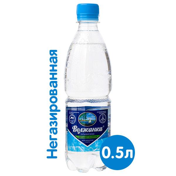 Вода Волжанка 0.5 литра, без газа, пэт, 12 шт. в уп. фото