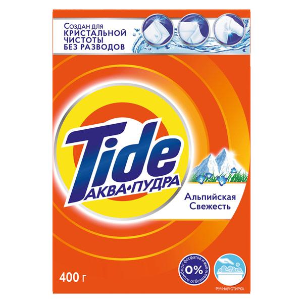 Стиральный порошок Tide для белого ручная стирка Альпийская свежесть 400 гр фото