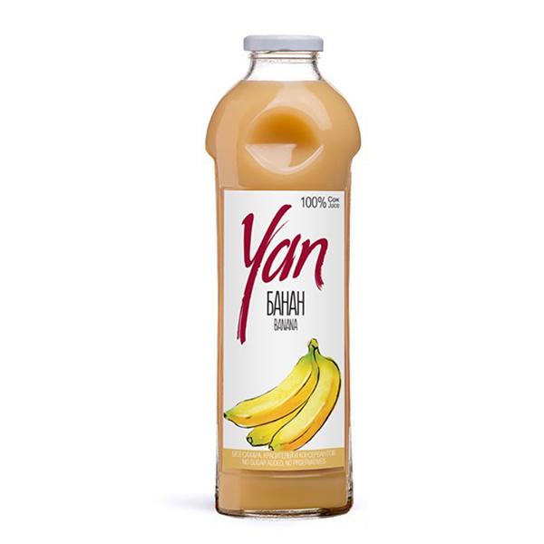 Сок YAN банановый 0.93 литра стекло 6 шт. в уп..