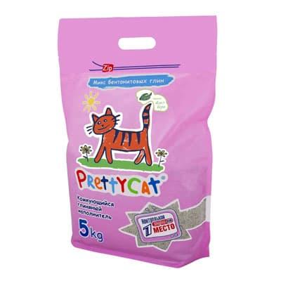 Наполнитель для кошачьих туалетов PrettyCat комкующийся Euro Mix аромат Алоэ вера 5 кг