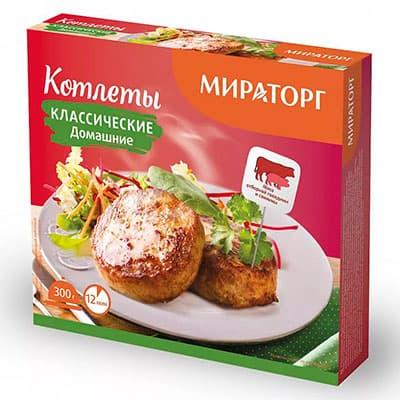 Котлеты Мираторг классические Домашние 300 гр