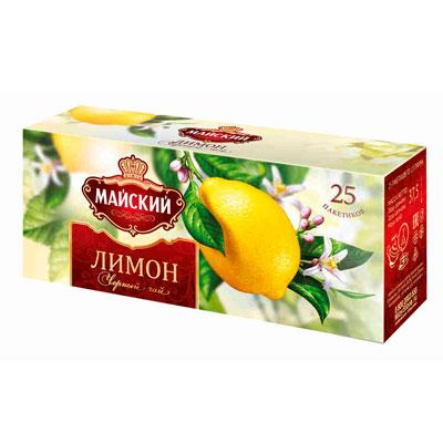 Чай черный Майский Лимон 25 пак фото