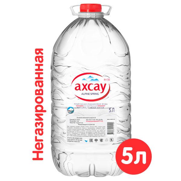 Природная ледниковая вода Ахсау 5 литра, 2 шт. в уп.