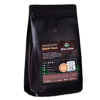Кофе Brai Gran 100% Арабика зерно в/у 500 гр фото