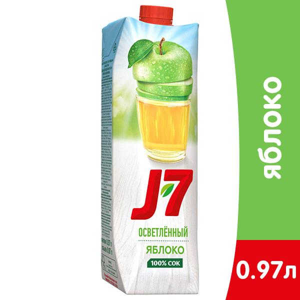 J7 / Джей Севен Яблоко осветленное 970 мл, 12 шт. в уп. фото