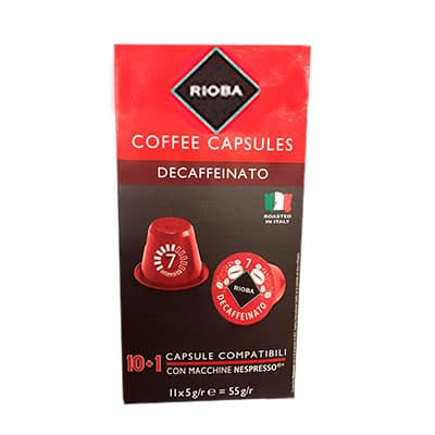 Кофе в капсулах Rioba Espresso Decaffeinato (10шт)