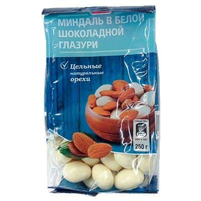 Драже Fine Life миндаль в белой шоколадной глазури 250г (1шт)