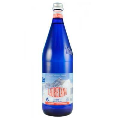 Вода Lauretana 1 литр, газ, стекло, 6шт. в уп.
