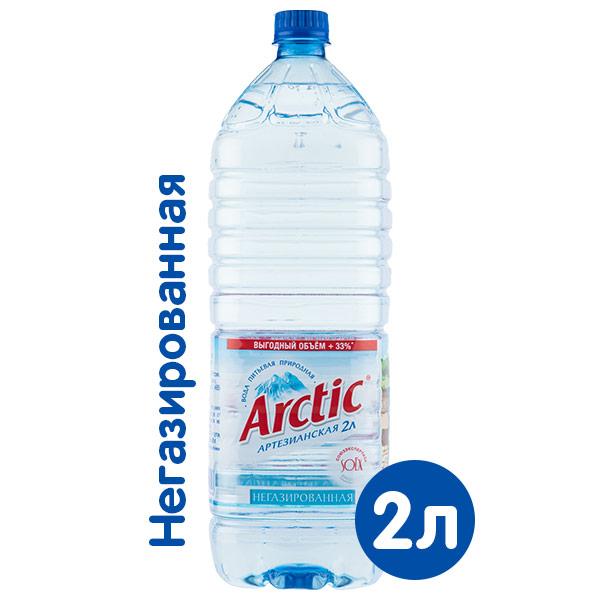 Вода Arctic 2 литра, без газа, пэт, 6 шт. в уп. фото