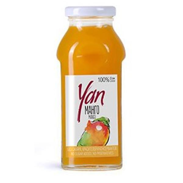 Сок YAN манго 0.25 литра стекло 12 шт. в уп..