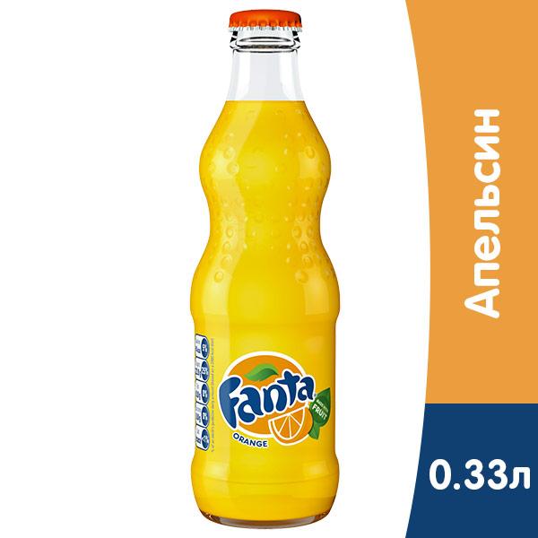 Fanta / Фанта 0.33 литра, стекло, 12 шт. в уп. фото