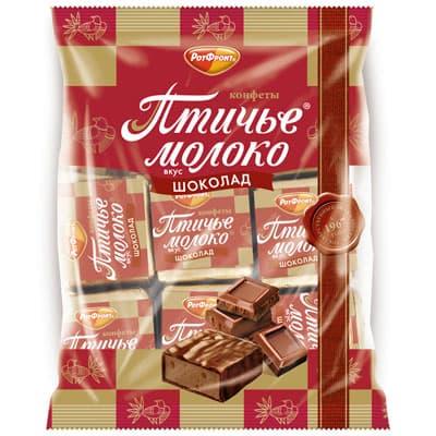 Конфеты Рот Фронт Птичье молоко вкус шоколада 225 гр фото