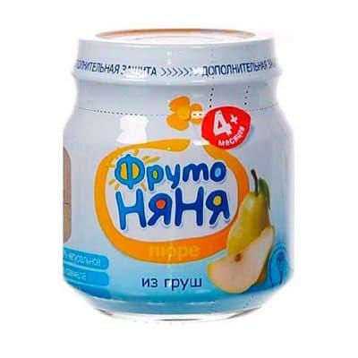 Пюре ФрутоНяня грушевое 100 гр (12шт)