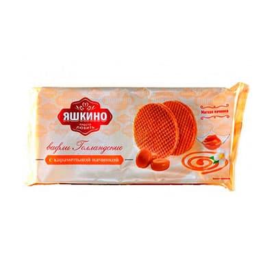 Вафли Яшкино Голландские с карамельной начинкой 290 гр фото