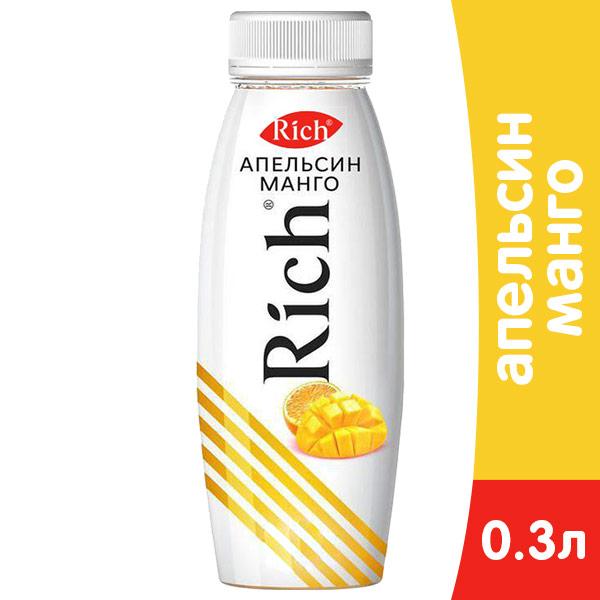 Купить со скидкой Нектар Rich апельсин-манго 0.3 литра, пэт, 12 шт. в уп.