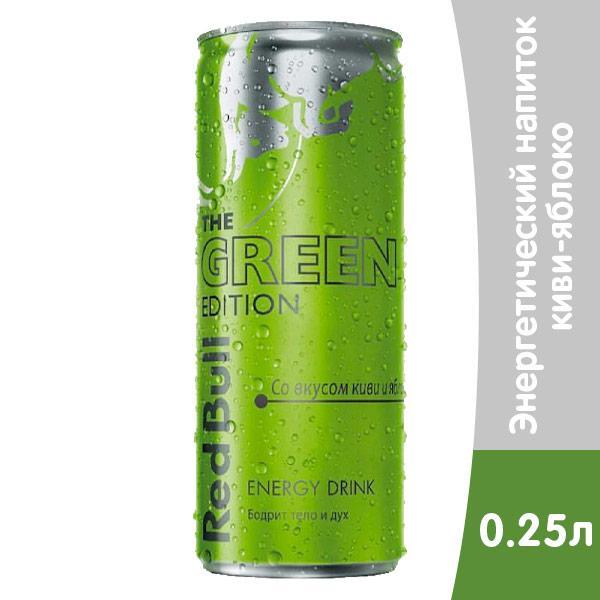 Red Bull Green Edition 0.25 литра, ж/б, 24 шт. в уп. фото