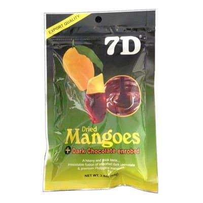 Сушеные кусочки манго в глазури из темного шоколада 7D 80гр