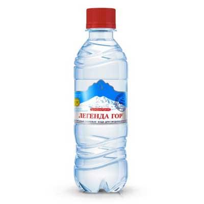 Вода Легенда гор 0.33 литра, газ, пэт, 12шт. в уп.