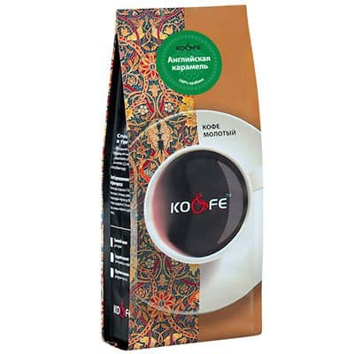 Кофе Английская карамель молотый м/у (200гр.)