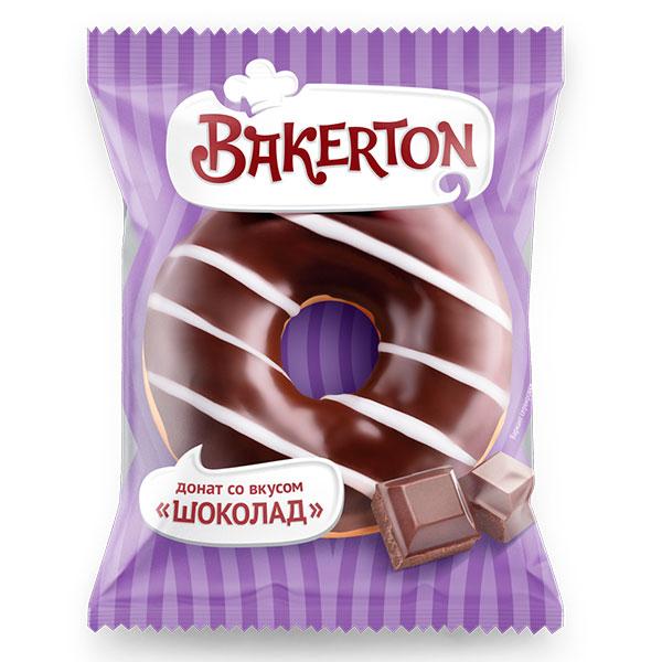 Донат глазированный Bakerton шоколад 55 гр