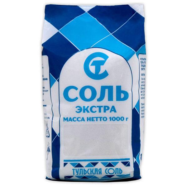 Соль Тульская Экстра 1 кг
