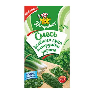 Смесь зеленого лука, петрушки и укропа Приправыч 20 гр