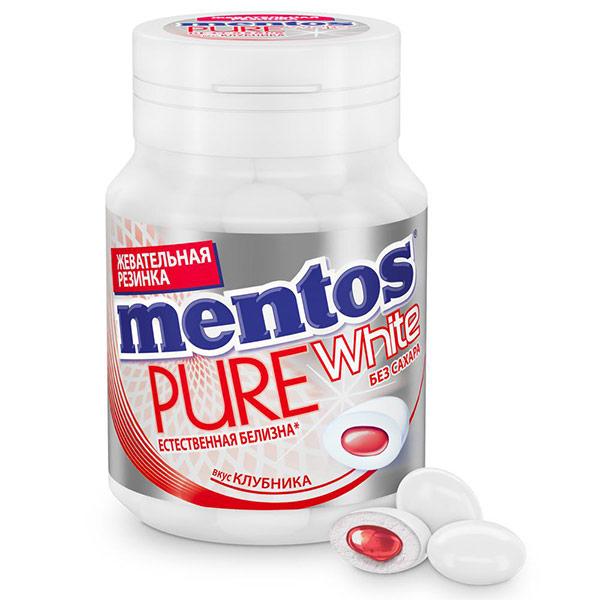Жевательная резинка Mentos Pure White Клубника 54 гр