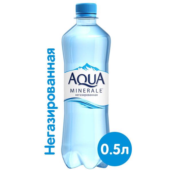 Вода Аква Минерале 0.5 литра, без газа, пэт, 12 шт. в уп. фото