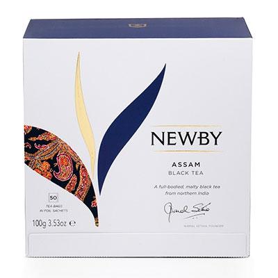 Чай Newby Assam Black tea чёрный 50 пак фото