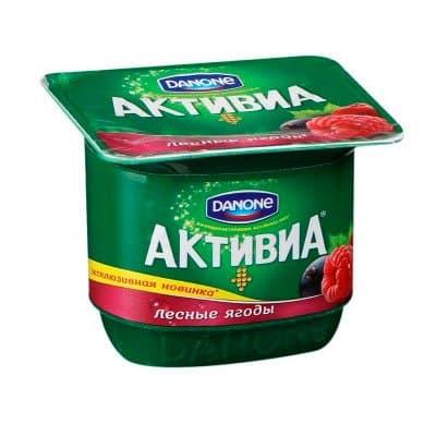 Йогурт Активиа лесные ягоды 150 гр