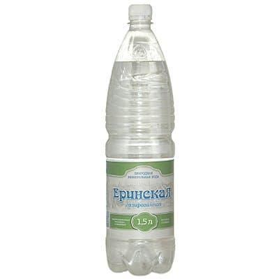 Вода Еринская 1,5л. природная столовая газ пэт (6шт)