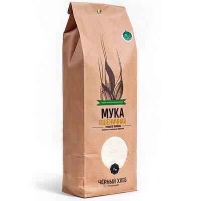 Мука пшеничная тонкого помола БИО Черный хлеб 1,0 кг