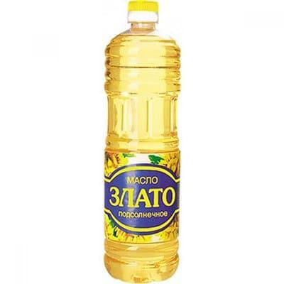 Масло подсолнечное Злато рафинированное дезодорированное 1л (4шт.)