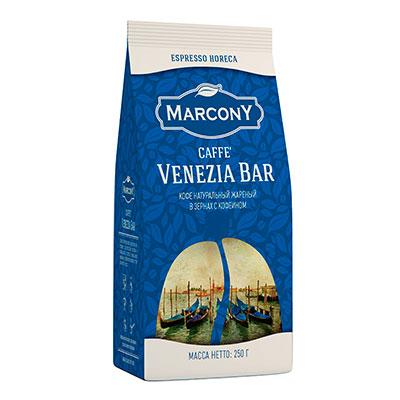 Купить со скидкой Кофе Marcony Venezia Bar зерно в/у 250 гр