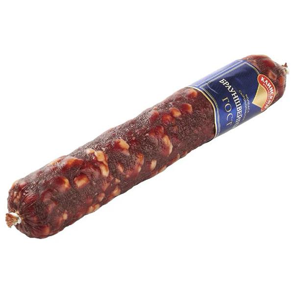 Колбаса Брауншвейгская Клинский МК сырокопченая 0,7-0,9 кг