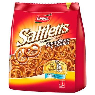 Снэки Saltletts / Солтлетс крендельки с солью 150гр