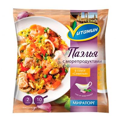 Паэлья Vитамин с морепродуктами в соусе Севилья 400 гр фото