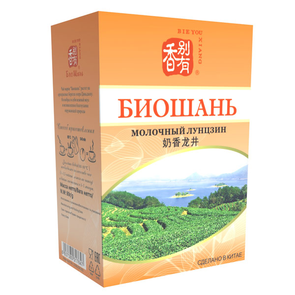 Чай зеленый Биошань Молочный Лунцзин 80 гр фото