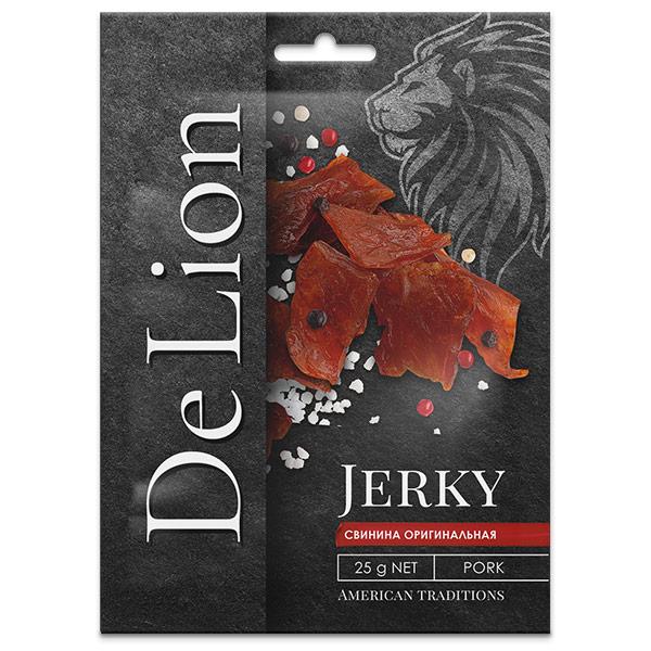 Сушеная свинина DeLion Jerky Оригинальная 25 гр