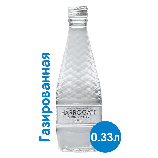 Вода Harrogate Spa / Харрогейт Спа 0.33 литра, газ, стекло, 24 шт. в уп. фото