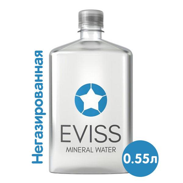 Вода Eviss 0.55 литра, без газа, пэт, 10 шт. в уп. фото