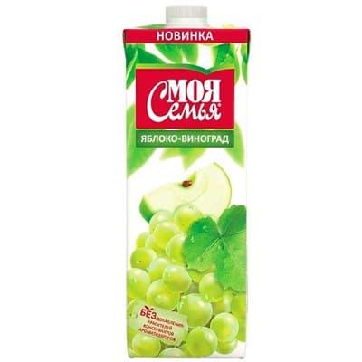 Моя семья яблоко, виноград 1л (4шт.)